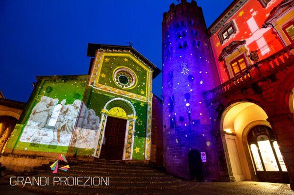 Illuminazione e Mapping Piazza della Repubblica Orvieto