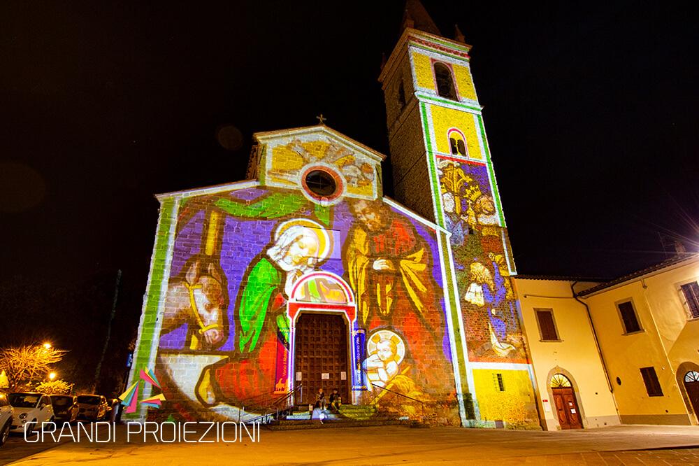 Illuminazione facciata Arezzo Piazza Sant'Agostino