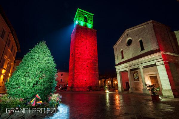 Illuminazione architetturale Torre Chiusi