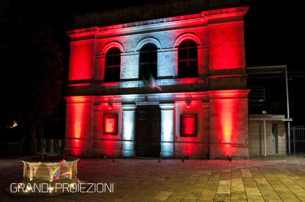Illuminazione facciata comune Rapolano Terme