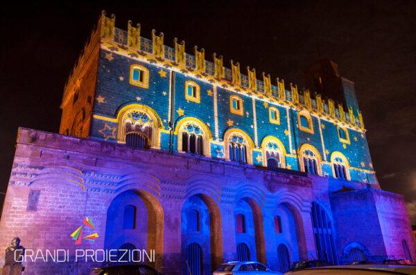 Proiezione architetturale su monumento Porta Romana Orvieto