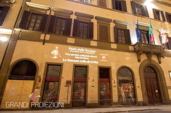 Proiezione Palazzo Regione Toscana Firenze