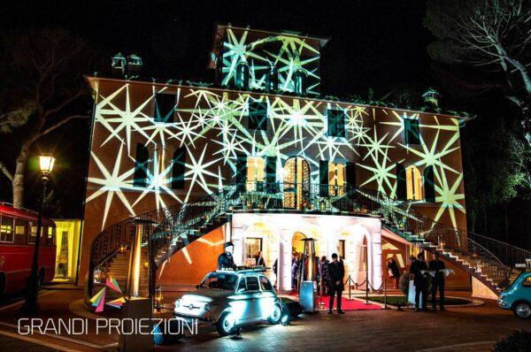 Illuminazione facciata Villa Valentini Bonaparte