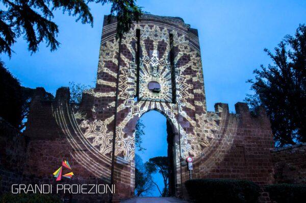 Proiezione Mapping Fortezza Albornoz Orvieto