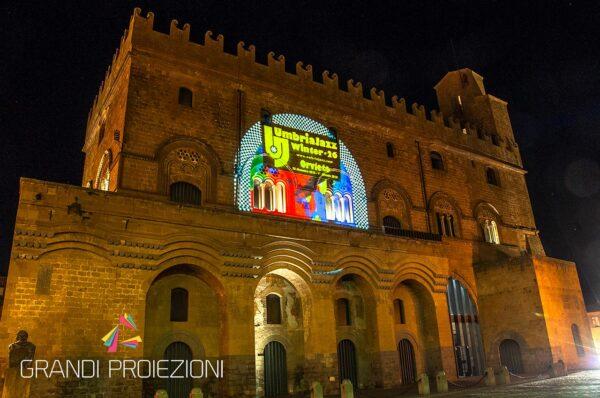 Proiezione su facciata Orvieto