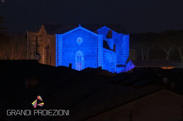 Illuminazione e colorazione delle facciate Chiesa San Domenico, Orvieto