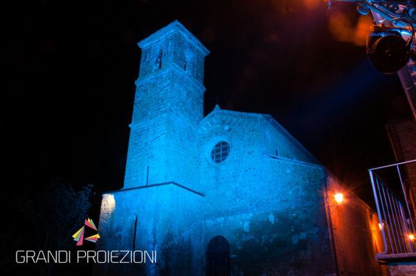 Illuminazione campanile e facciata, Chiesa San Giovenale, Orvieto