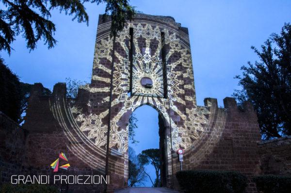 Riproduzione di un rosone Fortezza Albornoz, Orvieto