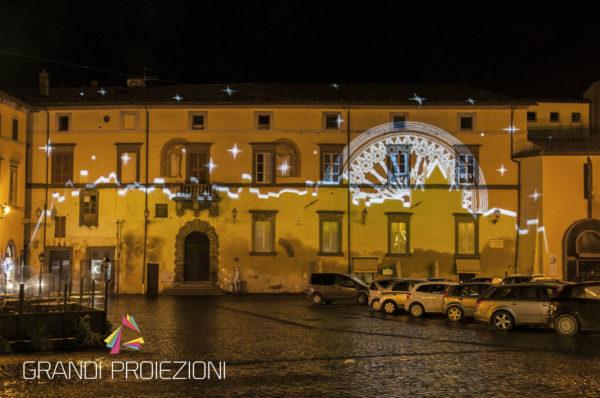 Proiezione skyline e cielo stellato Palazzo Simoncelli, Orvieto
