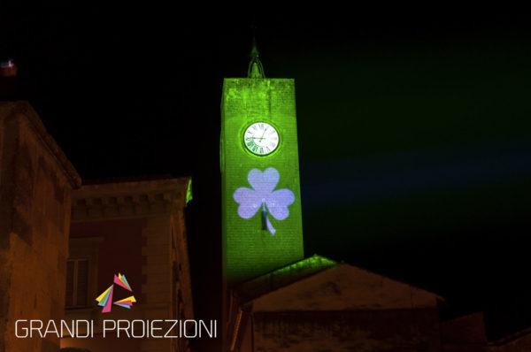 Proiezione per il Global Greening Torre del Moro, Orvieto