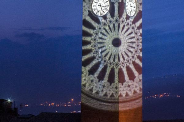 Riproduzione di un rosone Torre del Moro, Orvieto