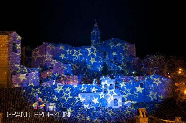 Proiezione di cielo stellato, Via Malabranca, Orvieto