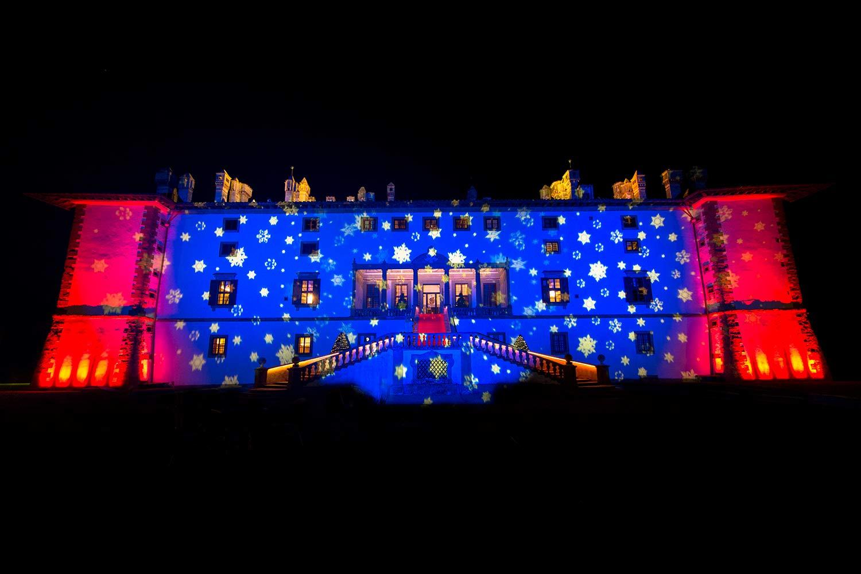 Illuminazione facciata Villa Artimino
