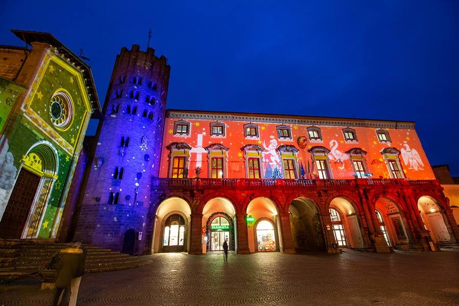 Illuminazione architettonica piazza della repubblica Orvieto