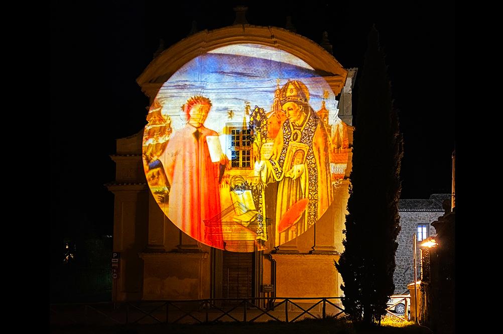 Proiezione Dante a Bagnoregio